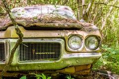 Pontiac destruiu nas madeiras Foto de Stock Royalty Free