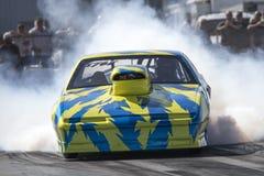 Pontiac firebird drag car making a smoke show. Napierville dragway super tour, june 2017 Stock Image