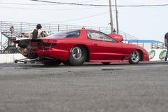 Pontiac firebird on the track Royalty Free Stock Image