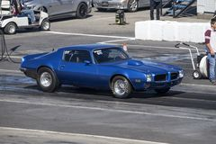 Pontiac firebird on the track at the starting line Royalty Free Stock Images