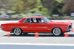 Pontiac GTO in autocross Royalty Free Stock Photo