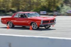 Pontiac GTO in autocross Royalty Free Stock Photos