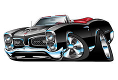 Classic American Muscle Car Cartoon Illustration Royalty Free Stock Image