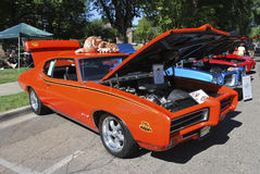 Pontiac GTO Judge 1970. FLAGSTAFF, ARIZONA / UNITED STATES - SEPTEMBER 8: A Pontiac GTO Judge 1970, in the 4th Annual Flagstaff Route 66 Days, Charity Car Show Stock Photos