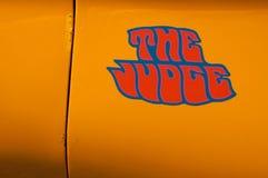 Pontiac 1969 GTO l'emblème de juge Image stock