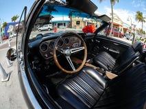 Pontiac intérieure GTO, plage la Floride de Fort Myers Photo stock