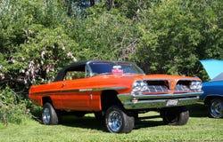 Pontiac noir et orange classique reconstitué Image libre de droits