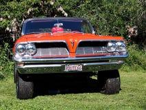 Pontiac noir et orange classique reconstitué Images libres de droits