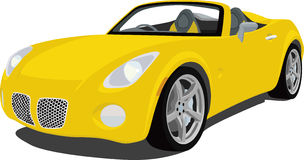 Pontiac Solstice Roadster. An illustration of a Pontiac Solstice Sports Car isolated on white. Saved in labeled layers for easy editing. See my portfolio for vector illustration