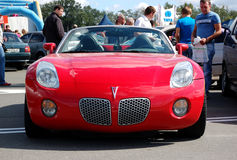 Pontiac Solstice at Yearly automotive-show. KIEV - SEPTEMBER 11: Pontiac Solstice at Yearly automotive-show Capital auto show 2011. September 11, 2011 in Kiev Royalty Free Stock Photography