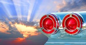 Pontiac-Sonnendurchbruchhimmel Stockbild