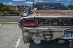 1959 Pontiac strato plecy widoku detailo szef Obraz Stock