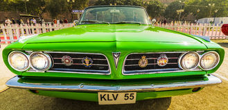 Pontiac Tempest Lemans 1963 two-door convertible vintage car. New Delhi, India - February 6, 2016: Vintage car parked at the Red Fort, New Delhi for 21 Gun Stock Photos