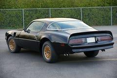 Pontiac trans am. Picture of the black 1977 pontiac trans am royalty free stock photos