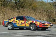 Pontiac trans. f.m. med grafitti Fotografering för Bildbyråer