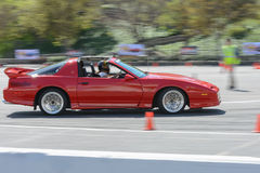 Pontiac Trans Am GTA Convertible in autocross Stock Photo