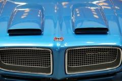 Pontiac wystawiał przy 3rd wydaniem MOTO przedstawienie w Krakow Polska obrazy royalty free