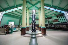 Pontianak,印度尼西亚 赤道纪念碑位于赤道 库存图片