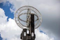 Pontianak,印度尼西亚 赤道纪念碑位于赤道 库存照片
