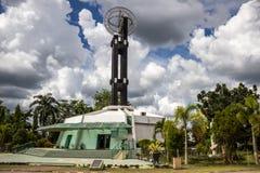Pontianak, Indonesia El monumento del ecuador está situado en el ecuador Fotografía de archivo libre de regalías