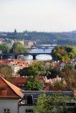 Ponticelli di Praga Fotografia Stock Libera da Diritti