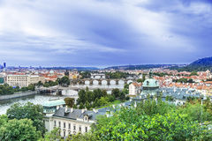 Ponticelli di Praga Fotografie Stock Libere da Diritti