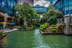 Ponticelli di San Antonio Riverwalk immagine stock libera da diritti