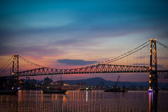 Ponticello al tramonto fotografia stock