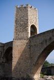 Ponticello alla fortezza Besalu, Spagna Fotografia Stock