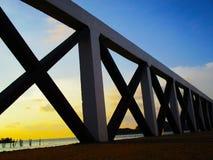 Ponticello attraverso il mare Fotografia Stock