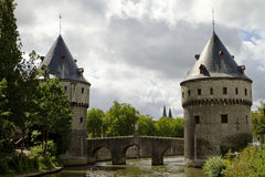 Ponticello Belgio della torretta di Kortrijk Immagine Stock