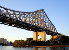 Ponticello Brisbane Australia di storia Fotografie Stock Libere da Diritti