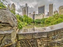 Ponticello Central Park, New York City di Gapstow Immagine Stock Libera da Diritti
