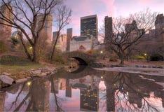 Ponticello Central Park, New York City di Gapstow Immagine Stock
