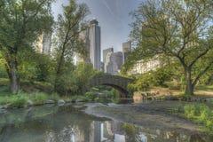 Ponticello Central Park, New York City di Gapstow Fotografia Stock Libera da Diritti