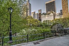Ponticello Central Park, New York City di Gapstow Fotografie Stock