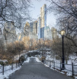 Ponticello Central Park, New York City di Gapstow Fotografia Stock Libera da Diritti