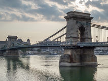 Ponticello Chain, Budapest, Ungheria Fotografia Stock Libera da Diritti