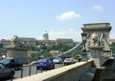 Ponticello Chain di Budapest Fotografie Stock