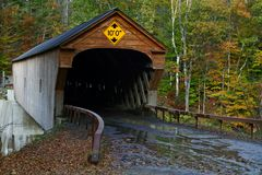 Ponticello coperto del Vermont Fotografie Stock
