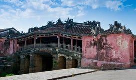 Ponticello coperto giapponese di Hoi, Vietnam Immagini Stock