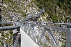 Ponticello d'acciaio nelle alpi bavaresi, Germania Fotografie Stock Libere da Diritti