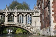 Ponticello dei sospiri - Cambridge Inghilterra Fotografia Stock Libera da Diritti