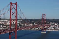 Ponticello del 25 aprile, Lisbona Fotografia Stock Libera da Diritti