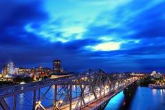 Ponticello del Alexandra in Ottawa, Canada Immagini Stock Libere da Diritti