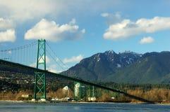 Ponticello del cancello dei leoni, Vancouver Fotografia Stock Libera da Diritti