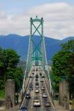 Ponticello del cancello dei leoni a Vancouver Fotografie Stock Libere da Diritti