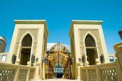 Ponticello del centro davanti a burj Doubai Fotografia Stock Libera da Diritti