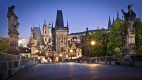 Ponticello del Charles a Praga Fotografie Stock