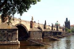 Ponticello del Charles a Praga Fotografia Stock